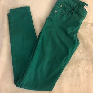 Express Green Skinny Jeans Size 4
